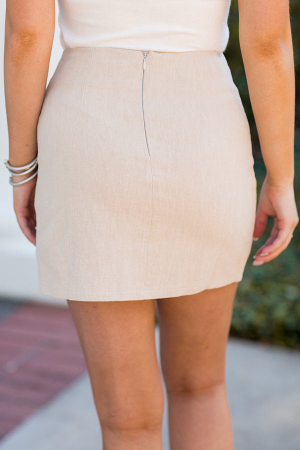 Act Natural Skirt - Beige