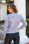 Wildfox Twinkle Lights Fiona Sweater - Heather