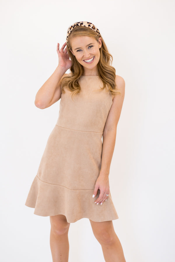 Fit & Flare Dress - Light Taupe