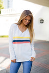 Seeing Stripes Sweater- Ivory