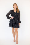 Champagne Kisses Dress - Black