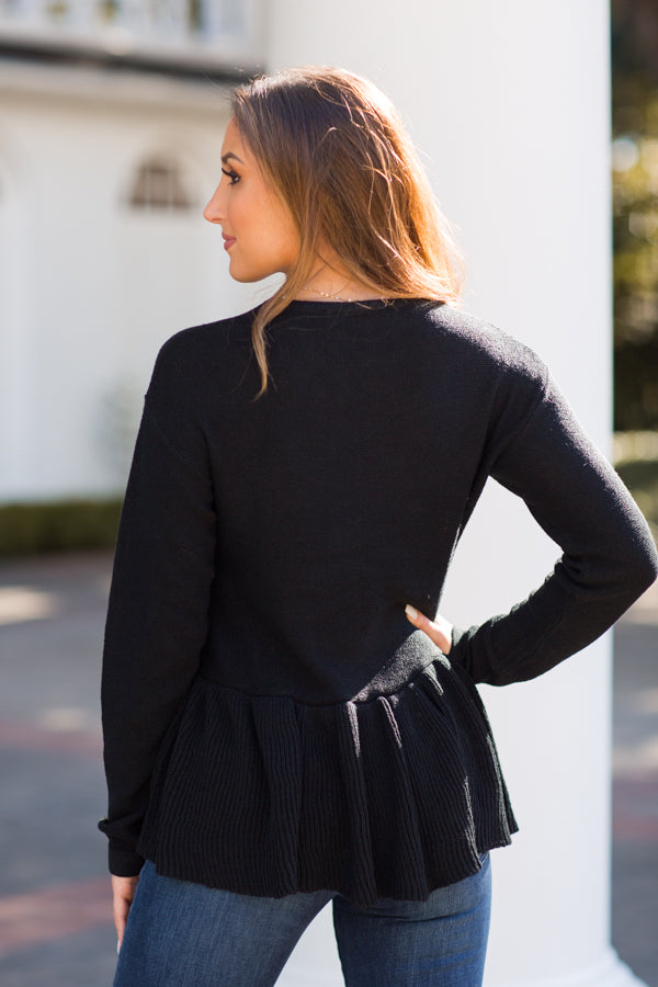 Pep In Your Step Sweater - Black