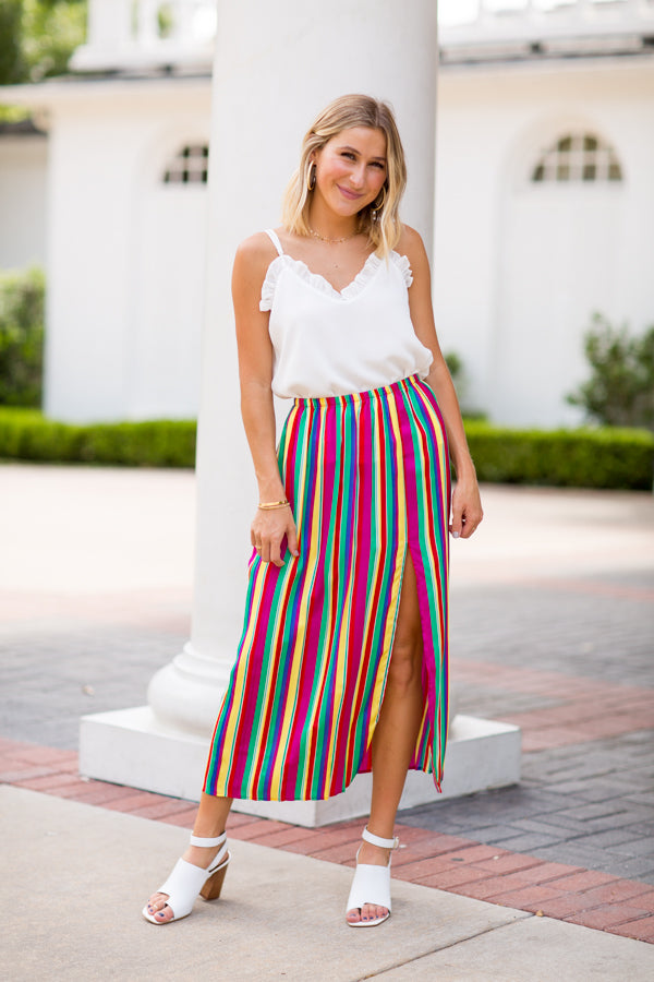 BB Dakota Fiesta Maxi Skirt- Rainbow