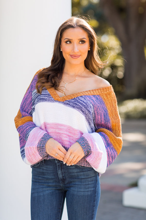 Hit The Slopes Cropped Sweater - Multi