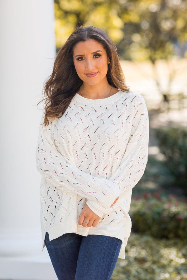Winter Chill Sweater - Ivory