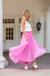 Princess Pleats Skirt- Pink