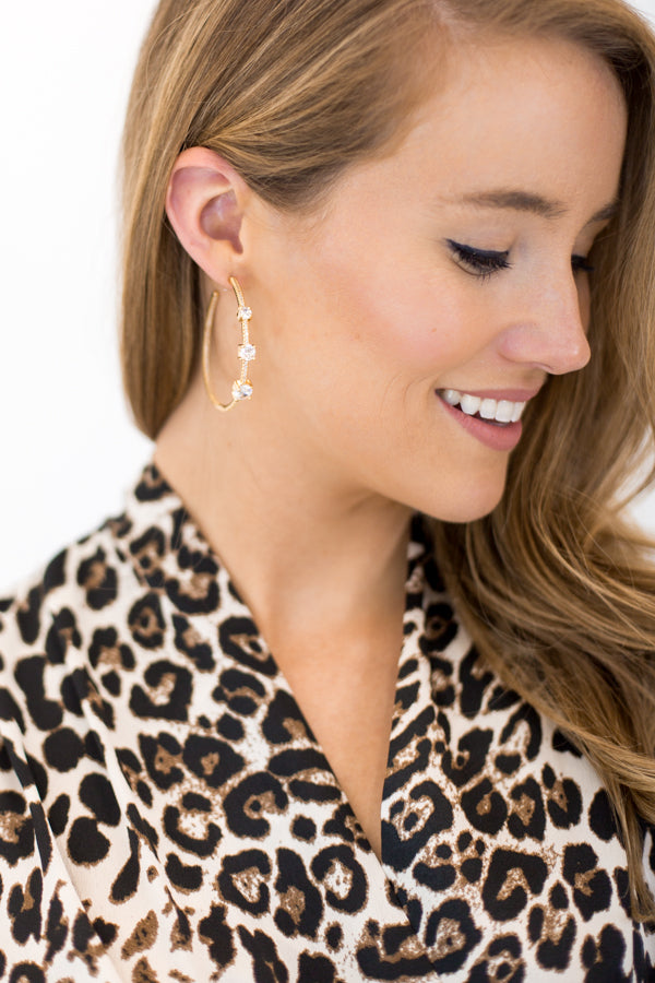 Icicle Wishes Earrings - Gold