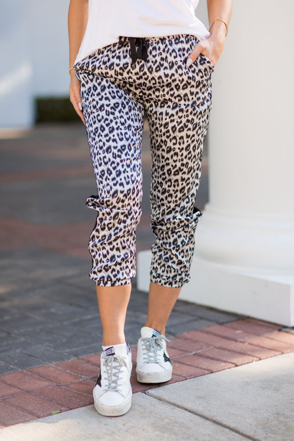 Fast & Furious Joggers - Grey Leopard