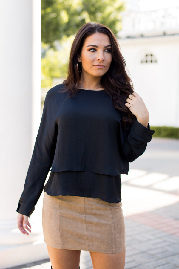 Layers For Days Top- Black