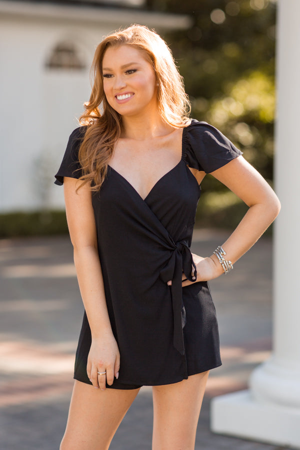 Tis The Season Romper - Black