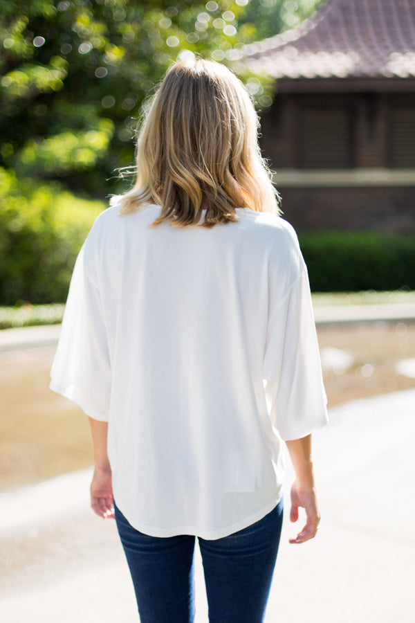 So Typical Tie Top- Ivory