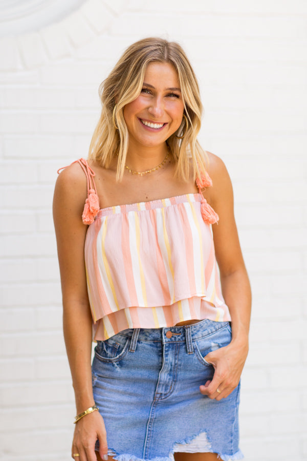 BB Dakota Azur Beach Top- Pink Blossom