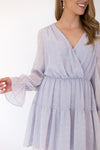 Light Up The Night Dress  - Light Grey