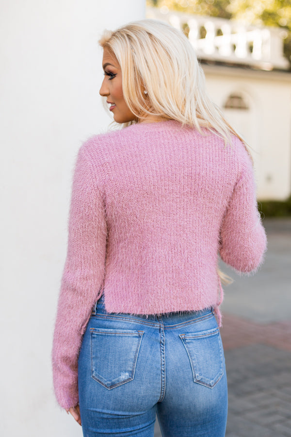 Charming Ties Sweater - Pink