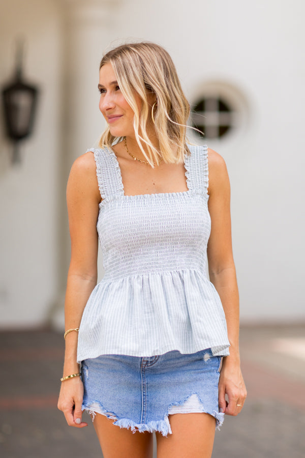 Charlotte For The Summer Top- Sage