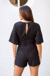 A Little Shimmer Romper - Black