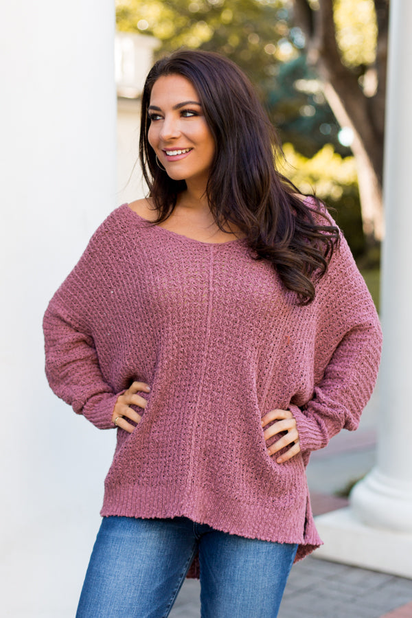 Memorable Mauve Sweater