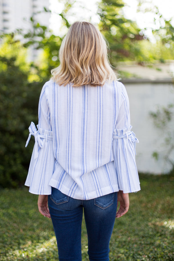 Summer Sleeves Striped Top
