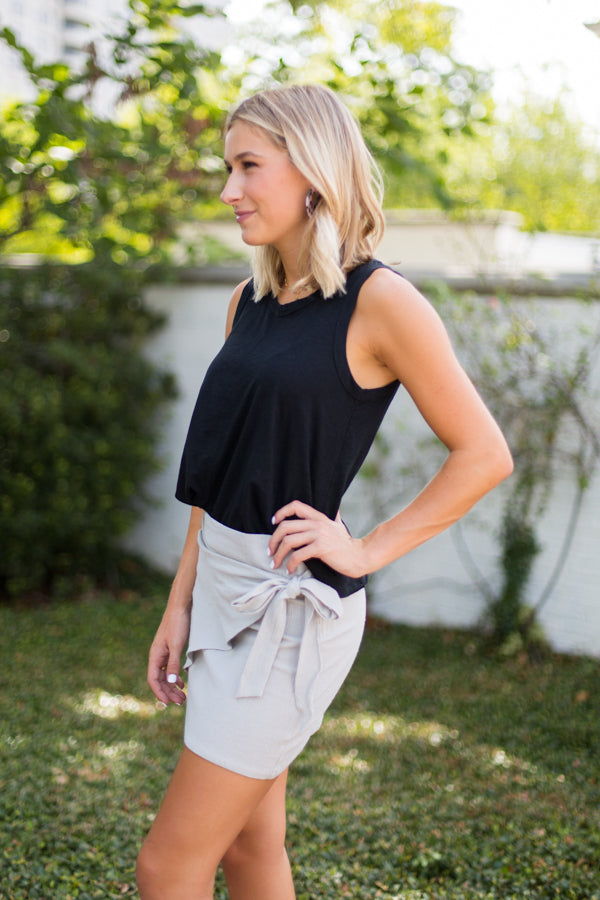 Tie It Together Wrap Skirt- Sage