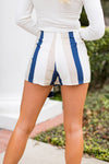 Seas The Day Skort- Navy