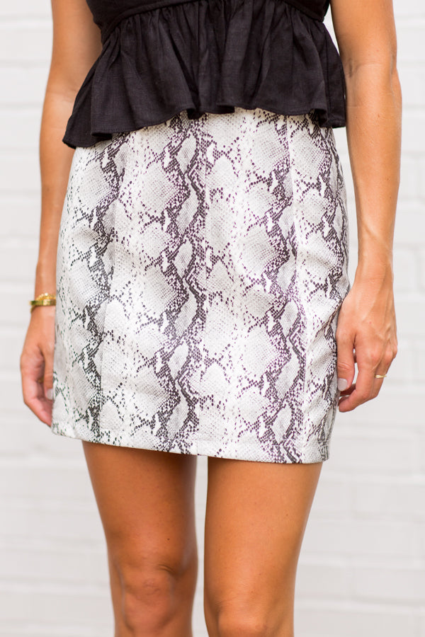 Python Please Skirt- Snakeskin