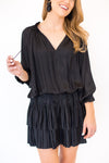 Clock Strikes Midnight Dress - Black