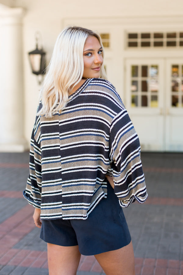 Cool Tones Striped Sweater