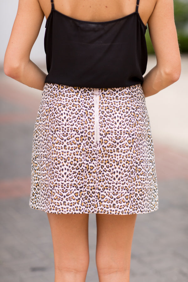 Cheetah Sista Skirt- Pink