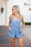 Myrtle Beach Romper- Blue