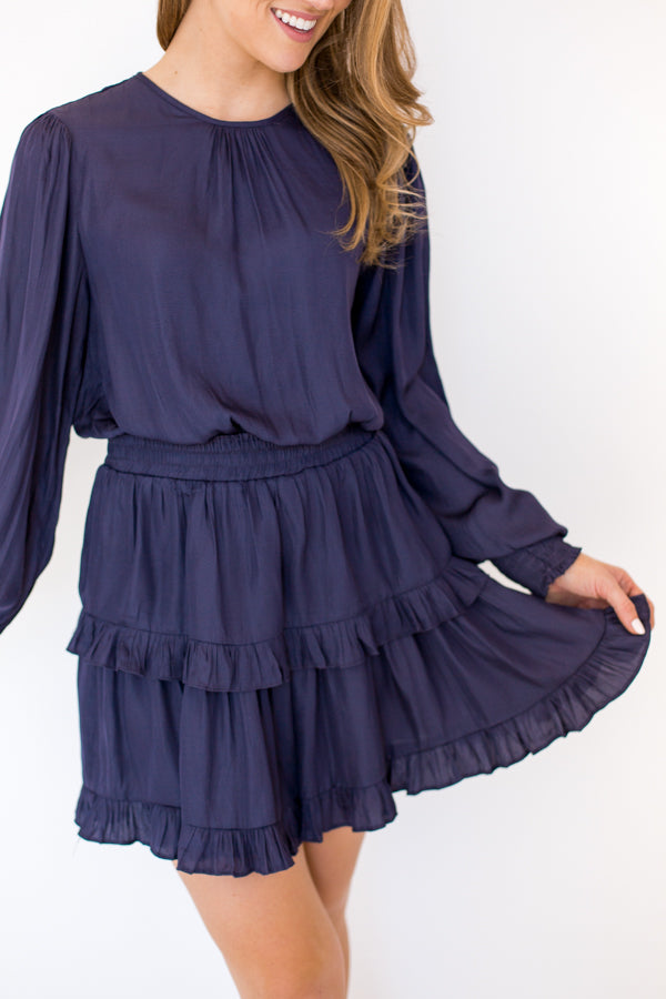 Midnight Waltz Dress - Navy