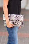 Hiss Hiss Purse- Grey Snakeskin