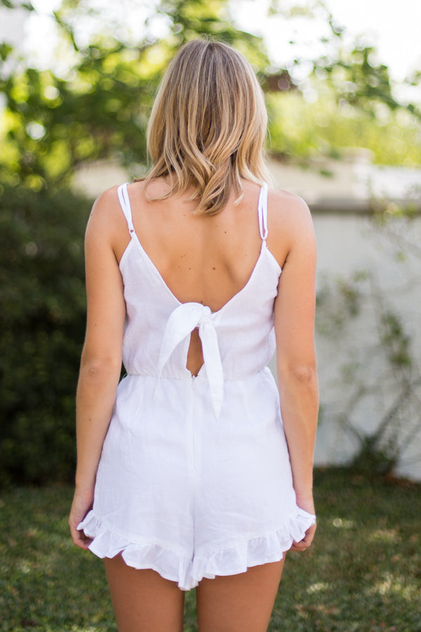 Myrtle Beach Romper- White