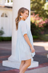 PRE-ORDER Babydoll Babe Dress - Light Blue
