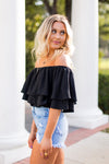 Nights in Mexico Top - Black