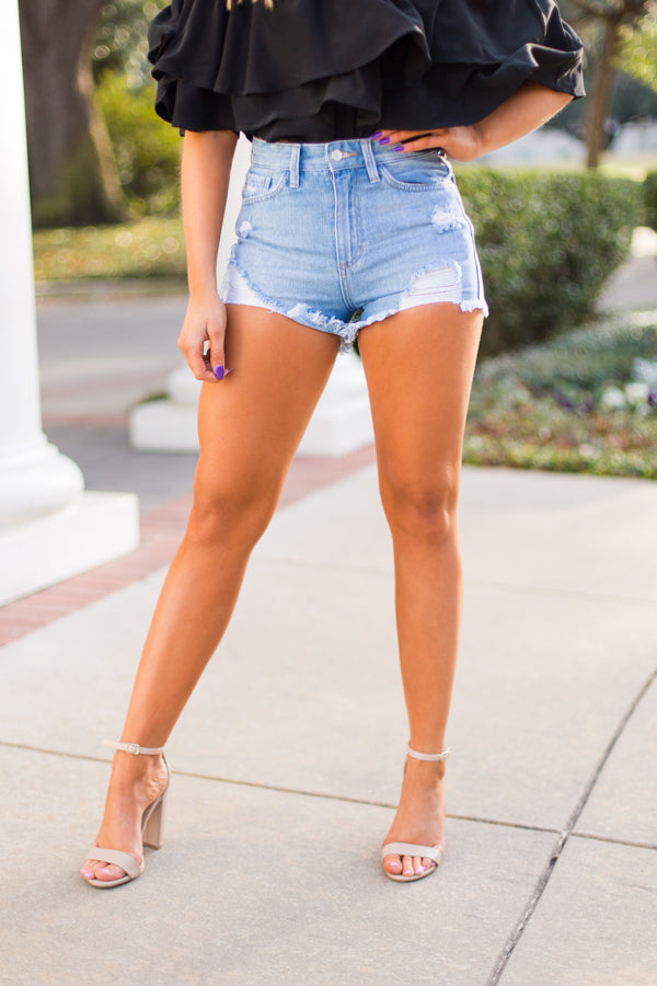 Just USA Jean Shorts - light denim