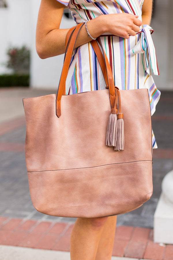 Take Me Away Tote- Nude