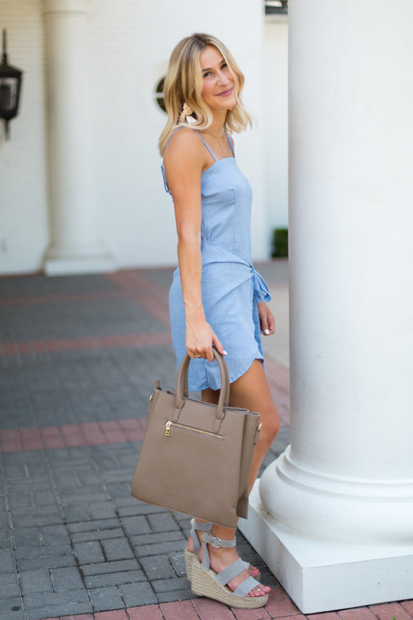 Uptown Girl Bag- Taupe