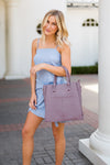 Uptown Girl Bag- Mauve