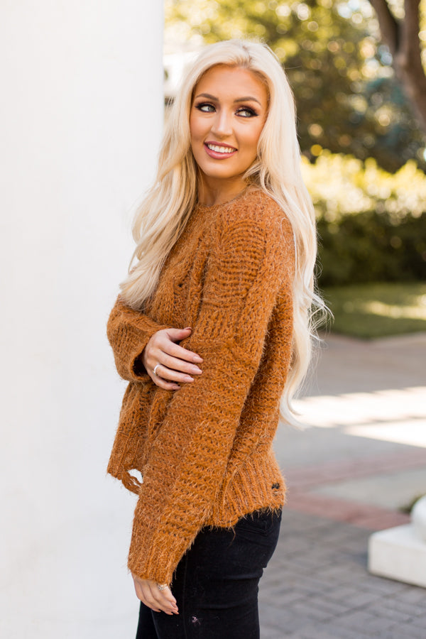 Into The Woods Sweater- Camel