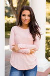 Frosted Rose Pocket Top- Pink