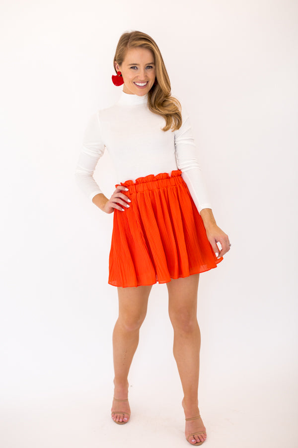 Pumpkin Spice Skirt - Red