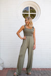 Throw & Go Jumpsuit- Olive