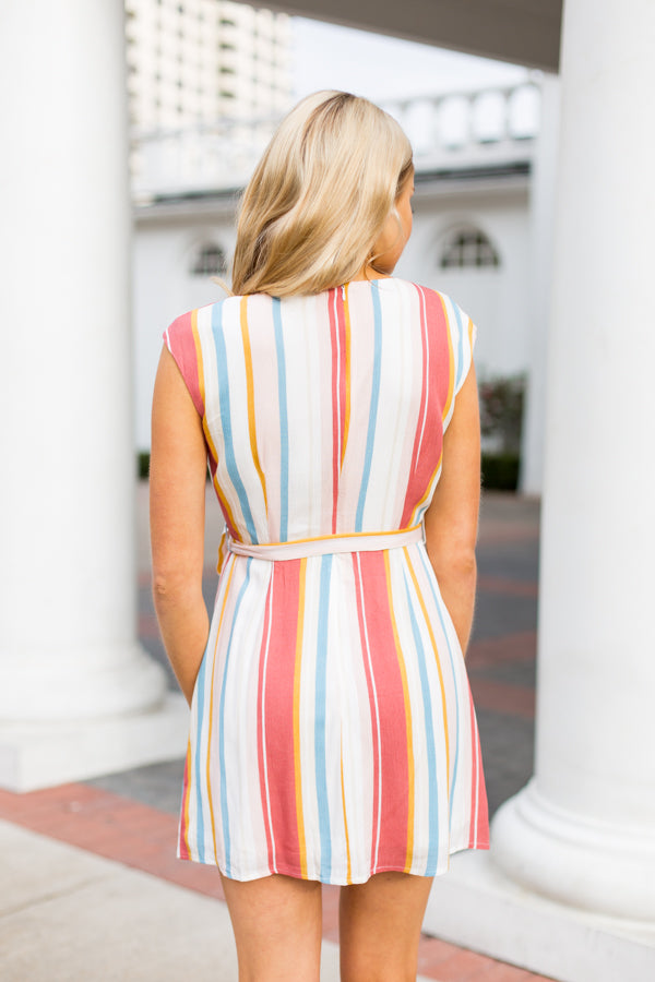 Colors Of Spring Dress- Multi
