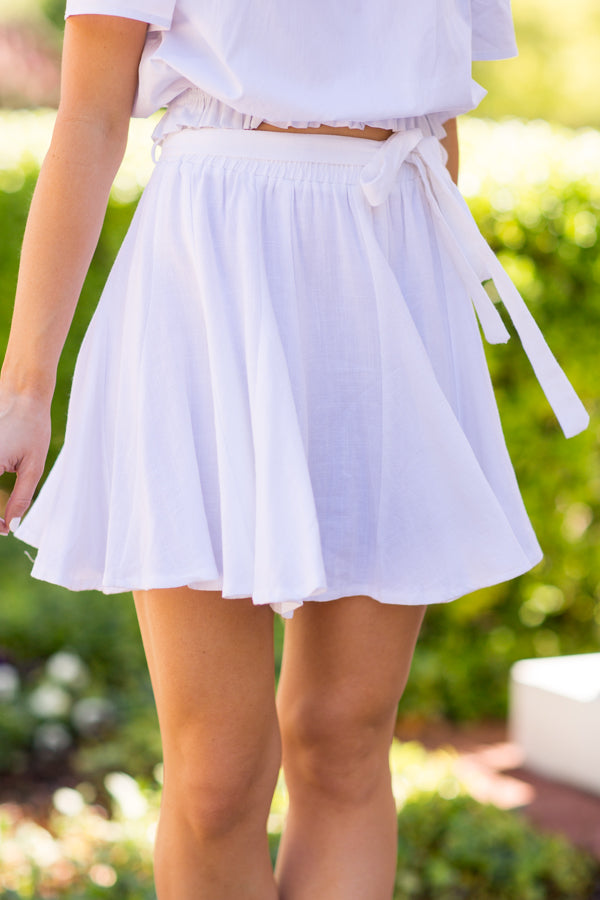 Swing Into Spring Skirt- White