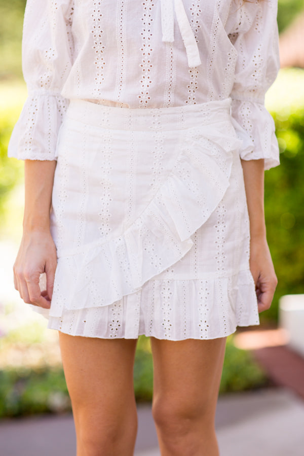 I Do Eyelet Skirt - White
