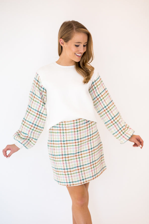 Uptown Girl Skirt - Plaid