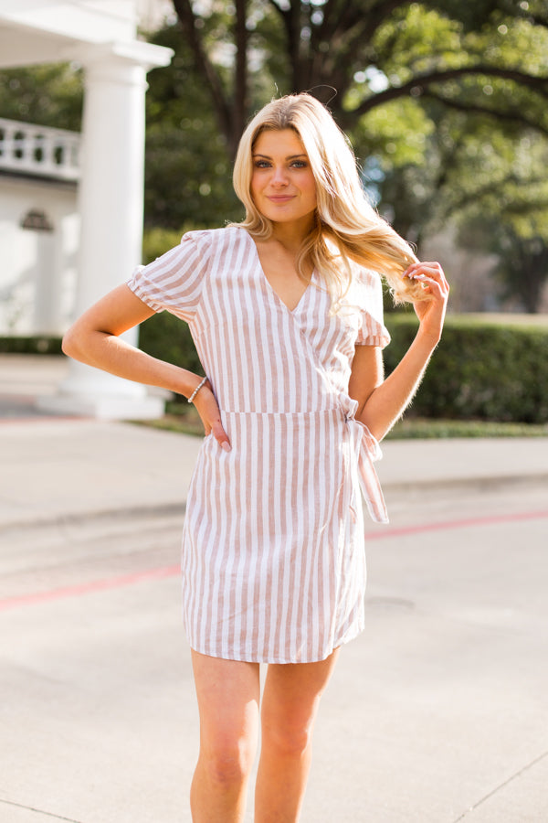 Keep It Neutral Dress- Tan
