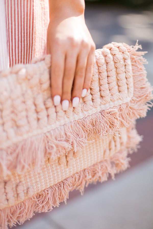 All In The Details Clutch- Blush