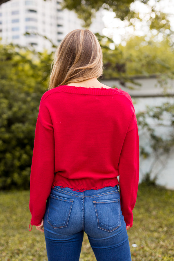 Red River Distressed Sweater