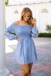 Free Spirit Dress- Denim Blue